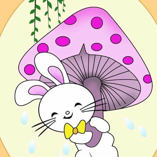 """树妈妈说:  """"一个蘑菇一把伞,  打着伞儿快回家."""
