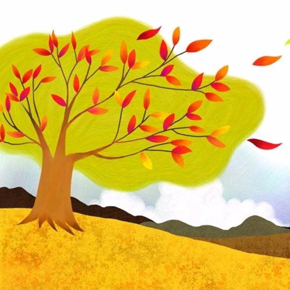 123.秋日主题配乐朗读之《秋天来了》 《丰收的童谣》-秋游的手抄报