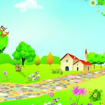卡通小路背景图