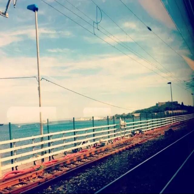 这爱好至今未变.   列车飞驰,窗外无物长驻,风景永远新鲜.