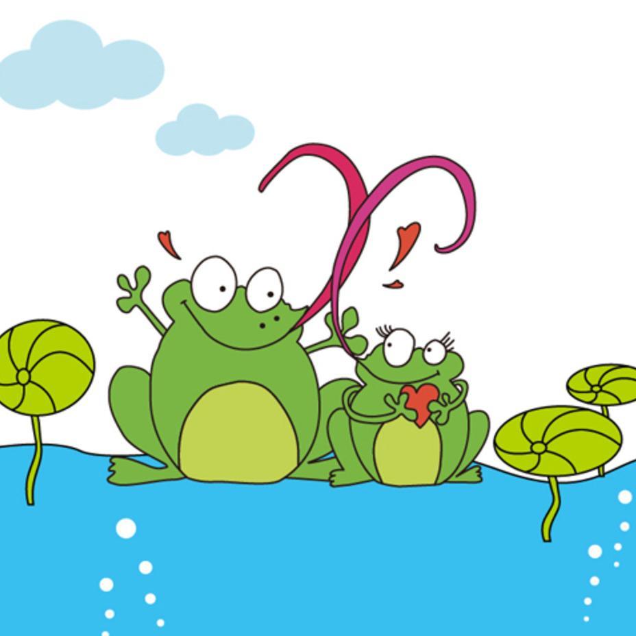 青蛙简笔画 带颜色