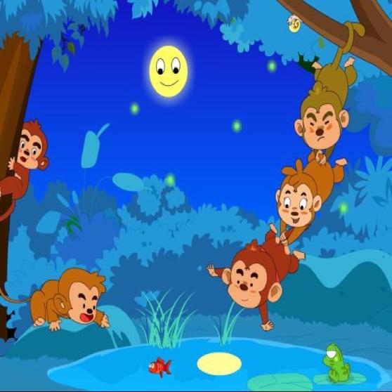 猴子手工拼贴画