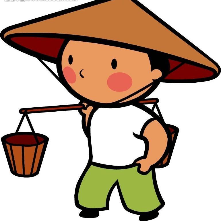 陕西农民矢量图