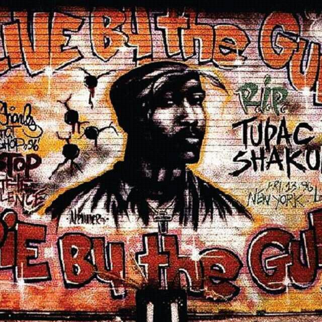 嘻哈手绘动漫墙壁画