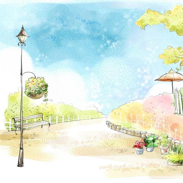 樹洞房子水彩畫