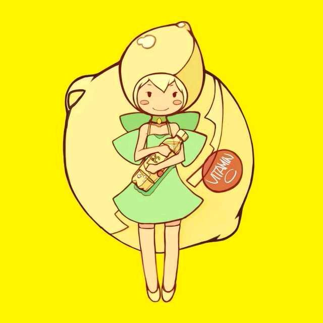可爱柠檬小清新头像