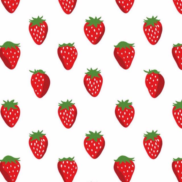 草莓壁纸小清新手绘