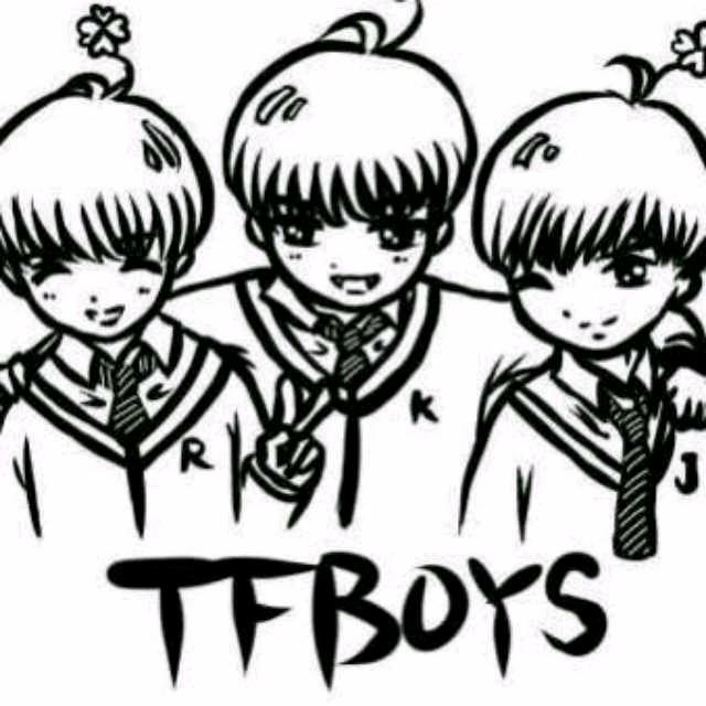 tfboys手绘简单